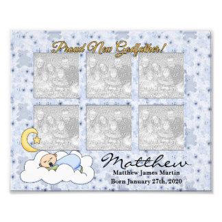 stolt för nyfödd bebispojke för gudfader 8x10 ram fototryck