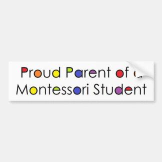 Stolt förälder av en Montessori student Bildekal