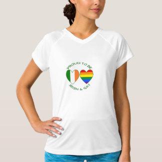 Stolt grönt att vara irländskt och glatt t shirts