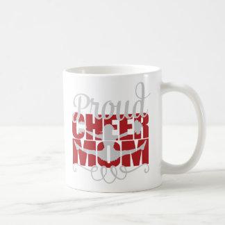 Stolt jubelmamma i rött kaffemugg