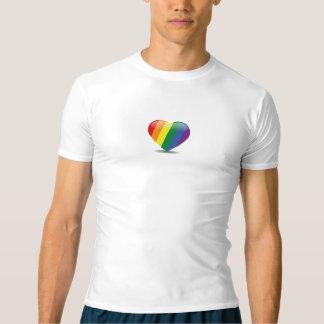 Stolt kapacitetsutslagsplats för hjärta t-shirts