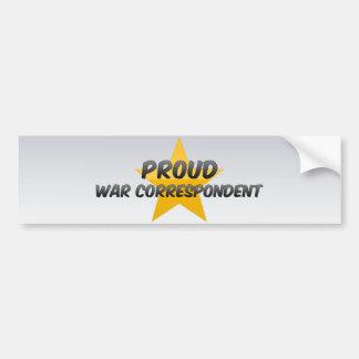 Stolt krigkorrespondent bildekal
