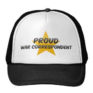 Stolt krigkorrespondent baseball hat
