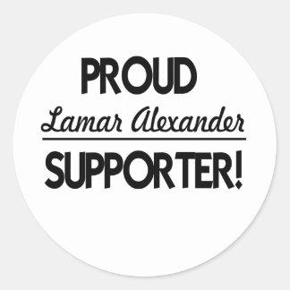 Stolt Lamar Alexander supporter! Runt Klistermärke