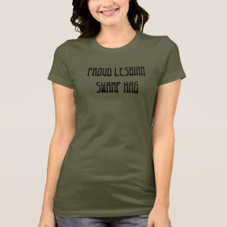 Stolt lesbisk träskhagga tshirts