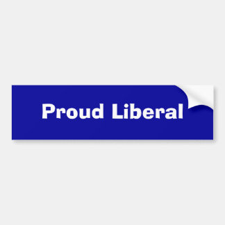 Stolt liberal person bildekal