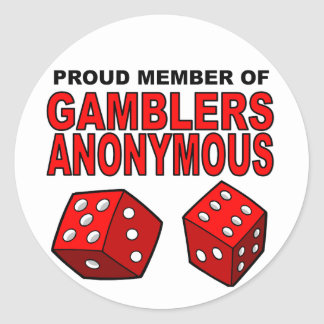 Stolt medlem av anonyma spelare runda klistermärken