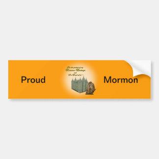 Stolt Mormonklistermärke Bildekal