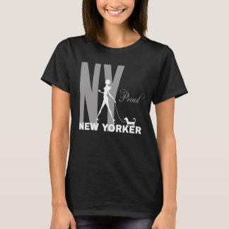 Stolt ny Yorker rolig en-av-en-sort svart Tee Shirt