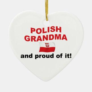 Stolt polsk mormor julgransprydnad keramik