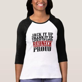 Stolt Redneck (svarten och rött) Tee Shirt