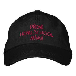 Stolt rosa och svart Homeschool mammor Broderad Keps