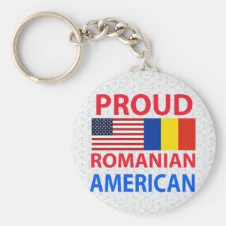 Stolt rumänsk amerikan rund nyckelring