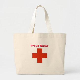 Stolt sjuksköterska jumbo tygkasse