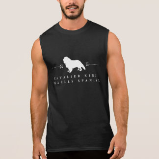 Stolt Spanielsilhouette -2- för kung Charles Sleeveless T-shirts