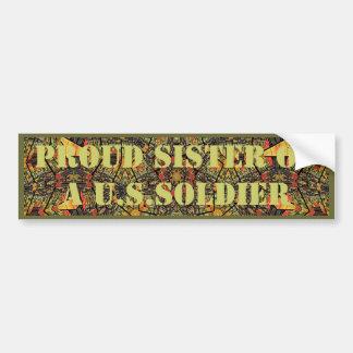 Stolt syster av en U.S.Soldier-bildekal Bildekal
