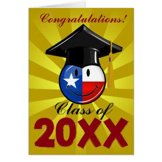 Stolt Texas doktorand- le flagga Hälsningskort