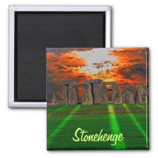 Stonehenge anseendestenar på solnedgången magnet