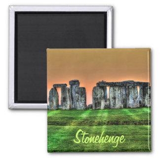 Stonehenge anseendestenar på sundownen magnet