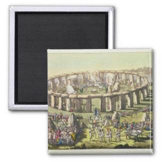 Stonehenge eller ett cirkulärtempel av druidsna, p magnet