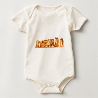 Stonehenge orange de MUSEUMZazzle gåvorna Body För Baby