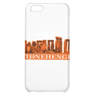 Stonehenge orange vit de MUSEUMZazzle gåvorna iPhone 5C Mobil Skal