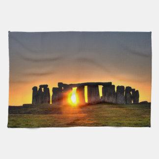 Stonehenge på dawn.en kökshandduk
