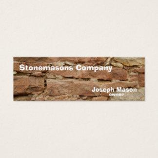 stonemason litet visitkort