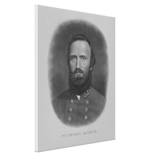 Stonewall Jackson Canvastryck