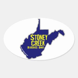 Stoney bäck - WEST VIRGINIA klistermärkelakan Ovalt Klistermärke