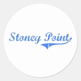 Stoney pekar Michigan klassikerdesign Runt Klistermärke
