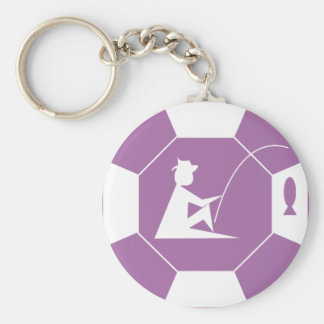 stop_line_fishing_purple rund nyckelring