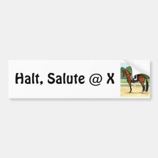 Stopp honnör på hästen för fjärd för x-Dressagekon Bildekal