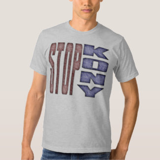 STOPP KONY - Ungar Crayon färgaddesign Tee Shirt
