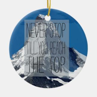 Stoppa aldrig kassalådan som du ner det bästa berg julgransprydnad keramik