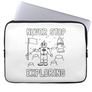 Stoppa aldrig undersökning laptop sleeve