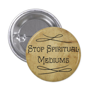 Stoppa andligt massmedia mini knapp rund 3.2 cm