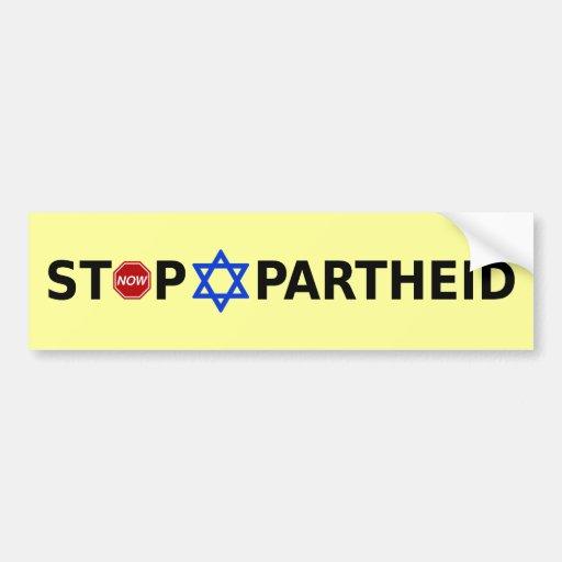 Stoppa apartheid bildekal