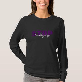 Stoppa att trakassera den purpurfärgade enkla tröjor