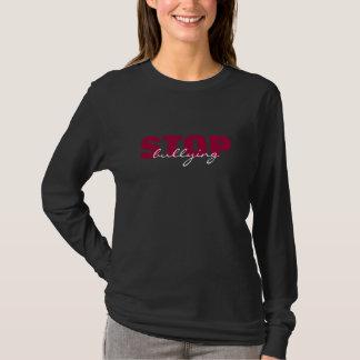 Stoppa att trakassera den rosa enkla svart tshirts