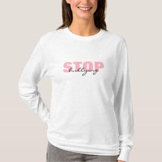 Stoppa att trakassera den rosa enkla tee shirts