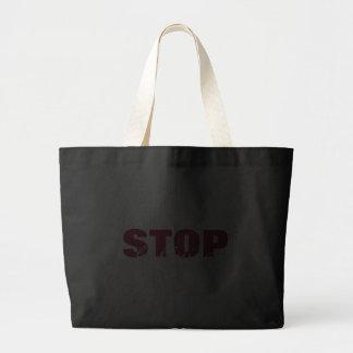 Stoppa att trakassera mörk rosa enkel svart toto kassar