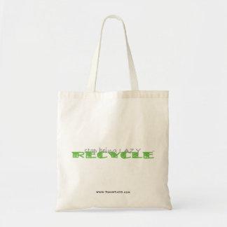 stoppa att vara lat RECYCLE™ - budget- toto Tygkasse