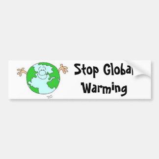 Stoppa bildekalet för global värme bildekal