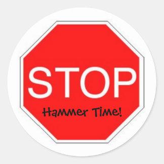 Stoppa bultar Time Runt Klistermärke