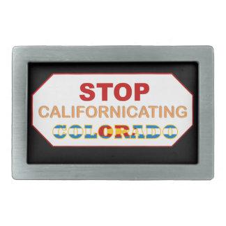 Stoppa det Californicating Colorado bältet spänner