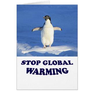 Stoppa det globala värmehälsningkortet hälsningskort