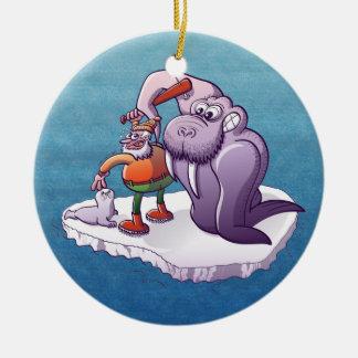 Stoppa dödandebabysälar julgransprydnad keramik