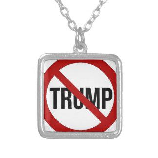 Stoppa Donald Trump Anti-Trumf 2016 Silverpläterat Halsband