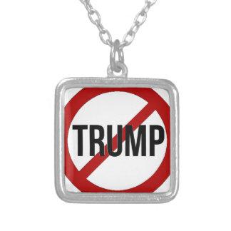 Stoppa Donald Trump Anti-Trumf Silverpläterat Halsband